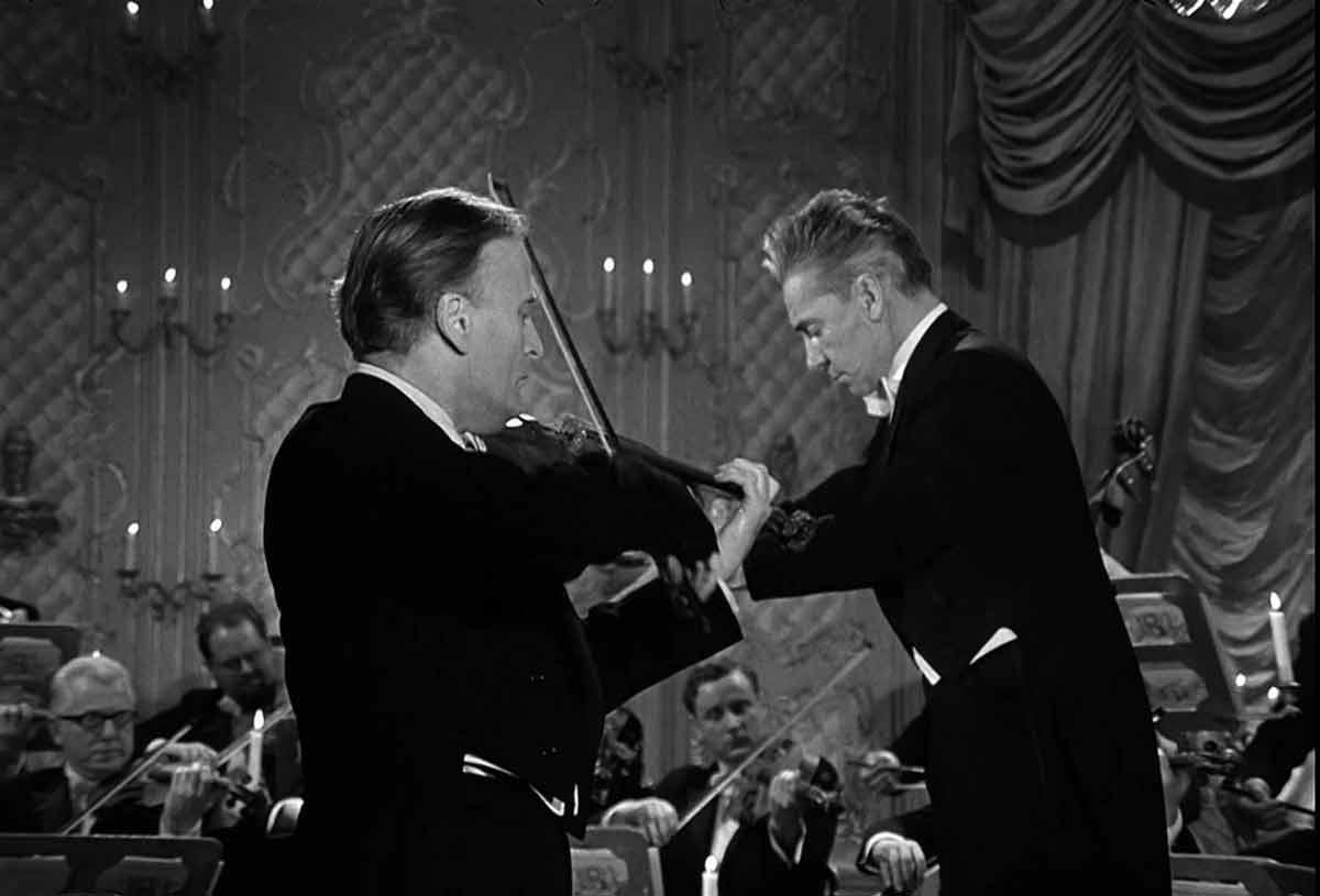 Herbert von Karajan and Yehudi Menuhin